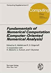 fundamentals of numerical computation computer oriented