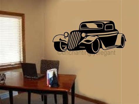 room decals for antique vintage car vinyl decal wall sticker office shop boy room decor ebay