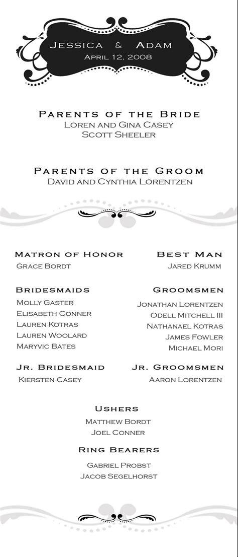 Wedding Ceremony Order Sheet by adamELEVATE on DeviantArt