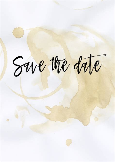 The Perfect Blend Save The Date Card Free Wedding Invitation Template Download Save The Date Template Free
