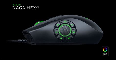 Razer Naga Hex V2 16000 Dpi The Op Moba Gaming Mouse razer naga hex v2 gaming mouse op moba mouse