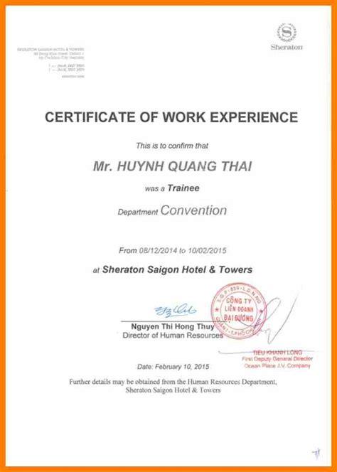 3 job experience certificate science resume