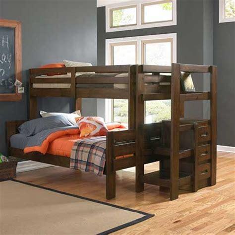 oak furniture west twinfull folding bunkbed  storage steps  mattresses home ideas