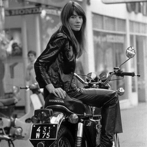 francoise hardy on motorcycle fran 231 oise hardy on her motorcycle silodrome