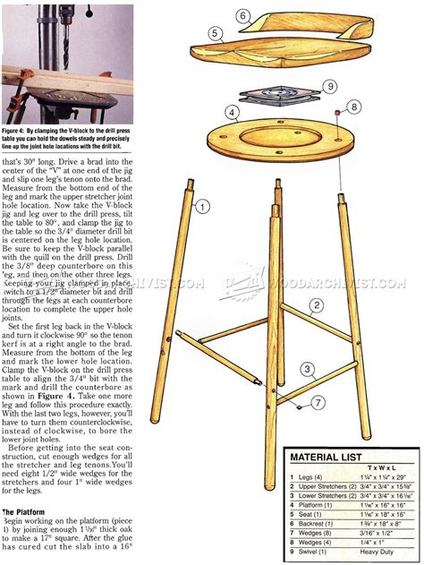 Diy Swivel Bar Stools by Swivel Bar Stool Plans Woodarchivist
