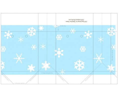 treat bag template free snowflake mini carrier gift bag template