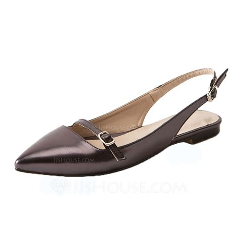 flat slingback shoes s leatherette flat heel flats slingbacks shoes