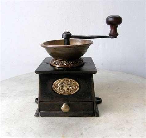 sur la table coffee grinder iron and brass coffee mill a kenrick sons patent by