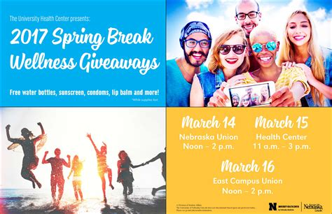 Wellness Giveaways - spring break wellness giveaways announce university of nebraska lincoln