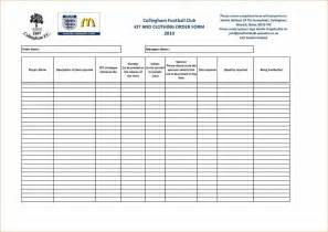 standard order form template design u construction standards templates standard order