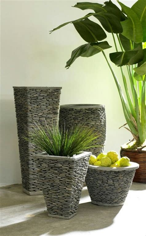 River Rock Planter by River Rock Planters Possible Diy Outdoors