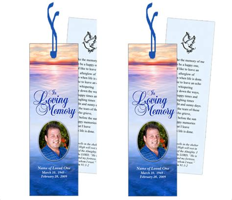 memorial bookmarks template free funeral bookmark template 22 free psd ai vector eps