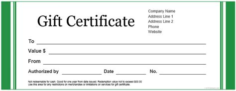 template for gift certificate free 20 printable gift certificates certificate templates