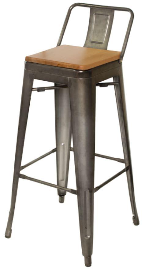 Galvanised Bar Stools by Tabouret Replica Galvanized Steel Bar Stool Wood Seat Tabouret Style Stools