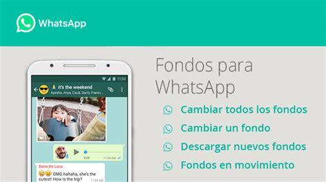 preguntas instagram cambiar fondo c 243 mo cambiar y descargar fondos para whatsapp