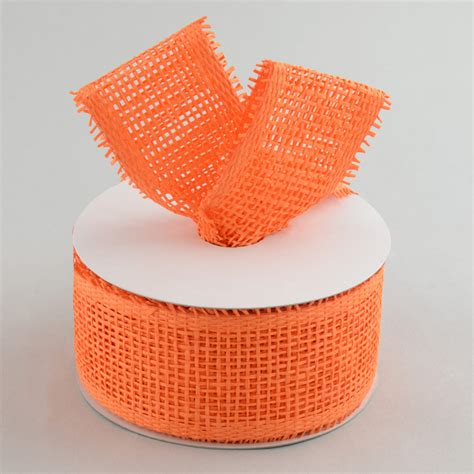Paper Mesh Craft - 2 5 quot paper mesh ribbon orange 20 yards rr600120