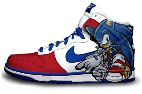 nike sonic shoes sonic the hedgehog nike air dunks sneakers