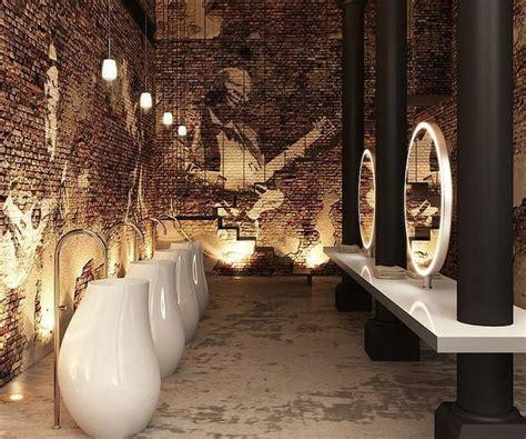 modern industrial restaurant restroom  ultra