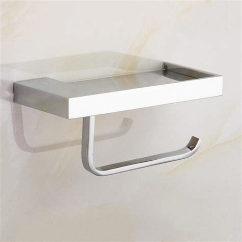 paper holder square roll toilet bathroom paper phone holder tissue holder with shelf mobile phones towel rack