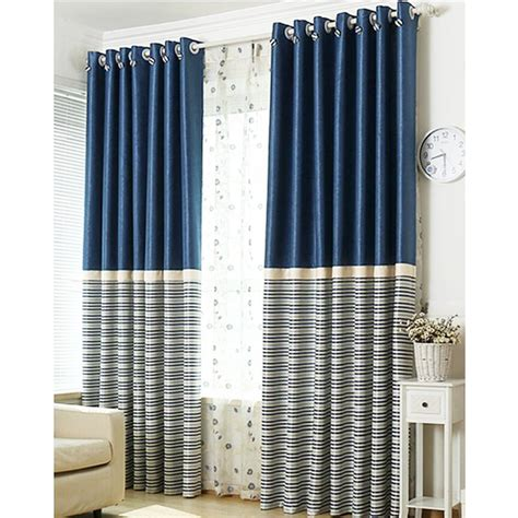 navy and silver curtains brief navy blue blackout living room ready made striped