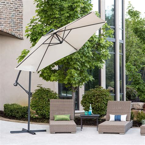 Walker Edison Furniture Company Cantaliever 9 Ft Patio Bellezza 169 9 Ft Outdoor Patio Garden Umbrella Aluminum