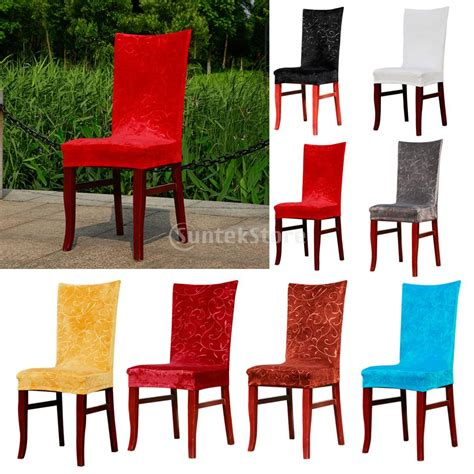 Dining Room Chair Slipcover Patterns Foral Pattern Stretch Fox Fabric Dining Room Chair Cover Slipcover Machine Washable