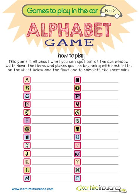 printable car games uk keeping kids entertained in the car travel printables