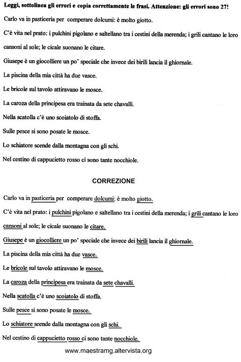 seconda classe lingua italiana maestra mg