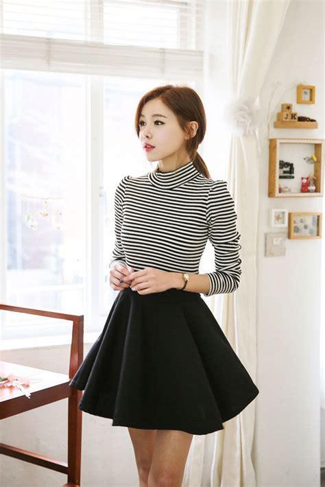 Flare Dress Korea paula stripe flare dress korean dresses vans korean fashion and korean
