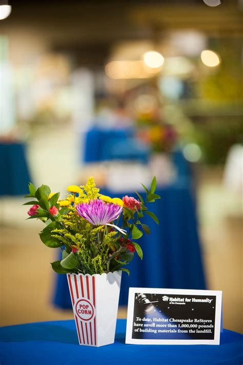 volunteer appreciation dinner centerpieces movie themed table decorations at the 2013 volunteer