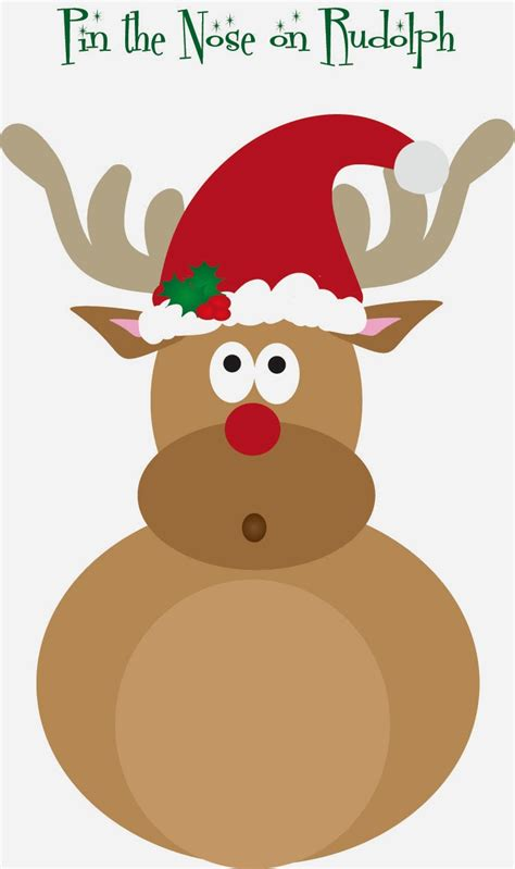 pin the nose on rudolph template whine dine and design