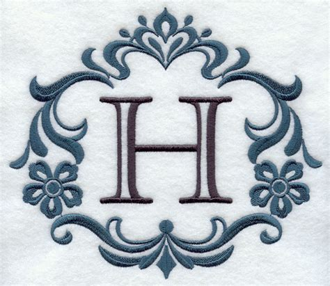 Machine Embroidery Designs at Embroidery Library ... H Alphabet Designs