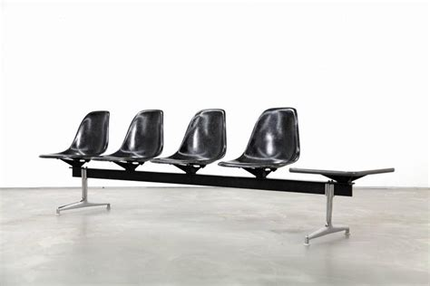 eames bench four seat shell tandem by charles and ray eames for herman