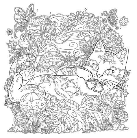 cats coloring book grayscale stress relief calming and relaxing coloring book portable books waves of color