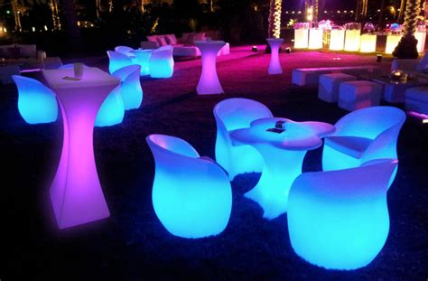 led furniture party events outdoor led table and charis modern
