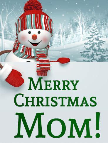 happy snowman christmas card  mother birthday greeting cards  davia