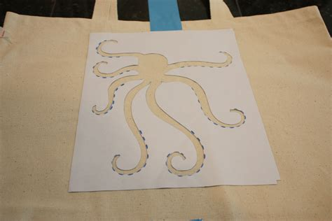 pattern printed side up diy octopus beach bag with free template