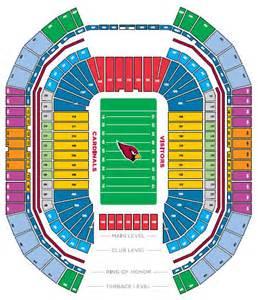 arizona cardinals seating map nfl football stadiums arizona cardinals stadium