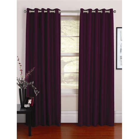 grape curtains urban living venezia grape silk readymade eyelet curtains