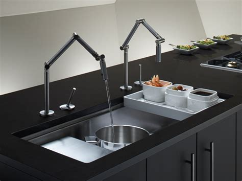 Restaurant Style Kitchen Faucets 2 faucets for one sink
