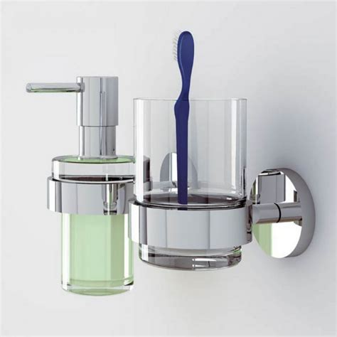grohe essentials glass tumbler with holder uk bathrooms