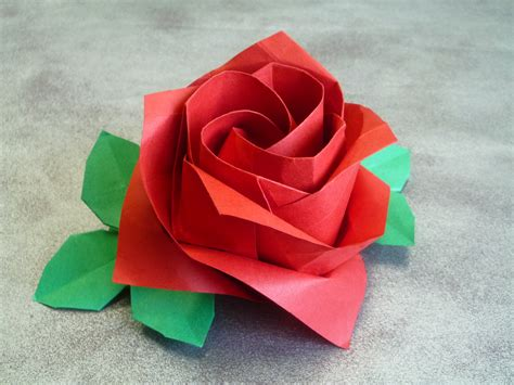 Rosa Origami - second auction rose by toshikazu kawasaki origami