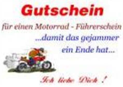 Motorradf Hrerschein Mit 16 by Motorradfuehrerschein Als Gutschein Vorlagen Muster