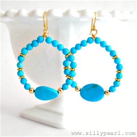 easy beaded hoop earrings and pendant tutorials the