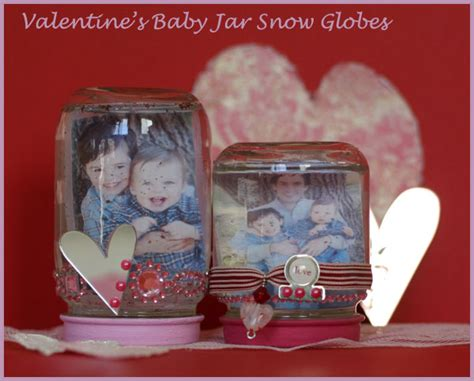 baby valentines gifts baby food jar snow globes for s day the crafty