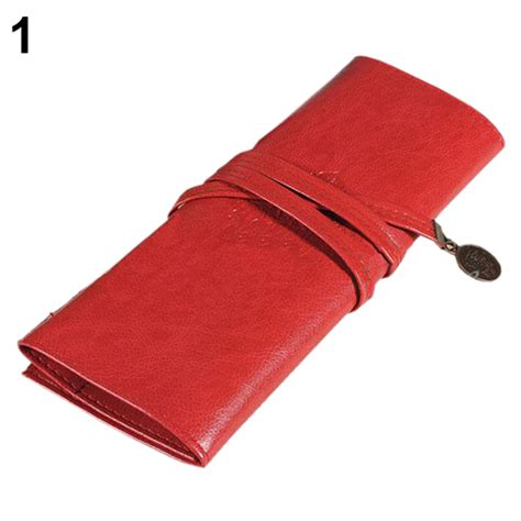 faux leather roll up pencil sale vintage retro roll faux leather make up cosmetic