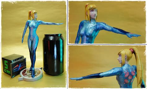samus aran papercraft size comparison by brspidey on