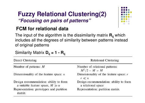pattern classification based on fuzzy relations ppt knowledge based clustering
