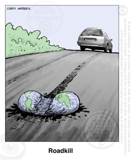 Environment cartoon ? the impact of road traffic on the