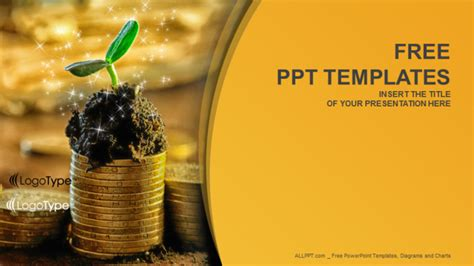 template ppt finance free capital growth finance ppt templates